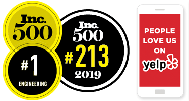 Zenith Engineers Inc placed #1 in Engineering on Inc 5000 Ranking
