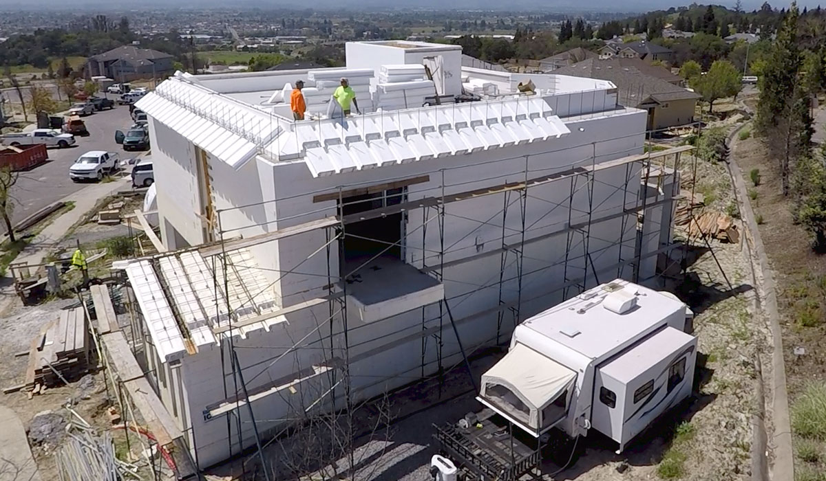 ICF - insulated Concrete Form Residential Home