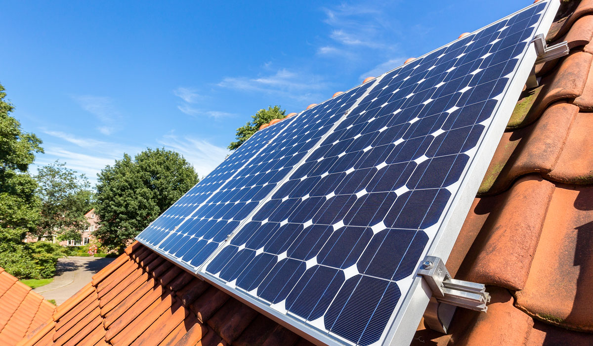 Solar panel installation on residential homes