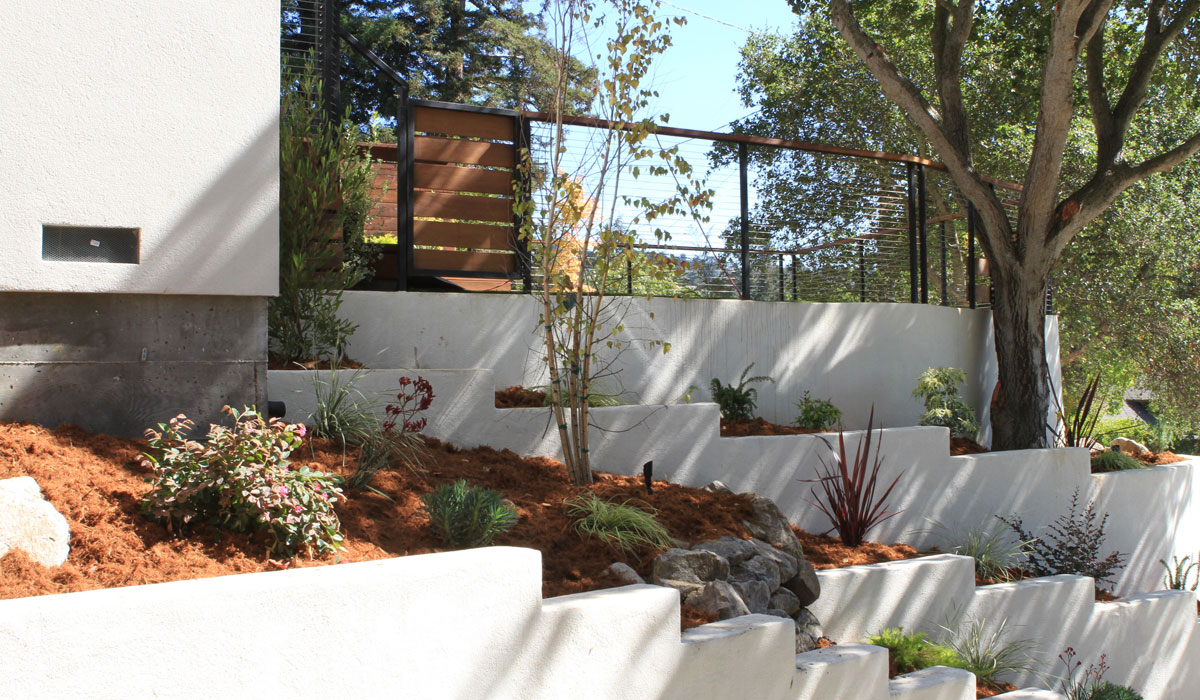 Structural engineering and design for residential retaining wall with planters project