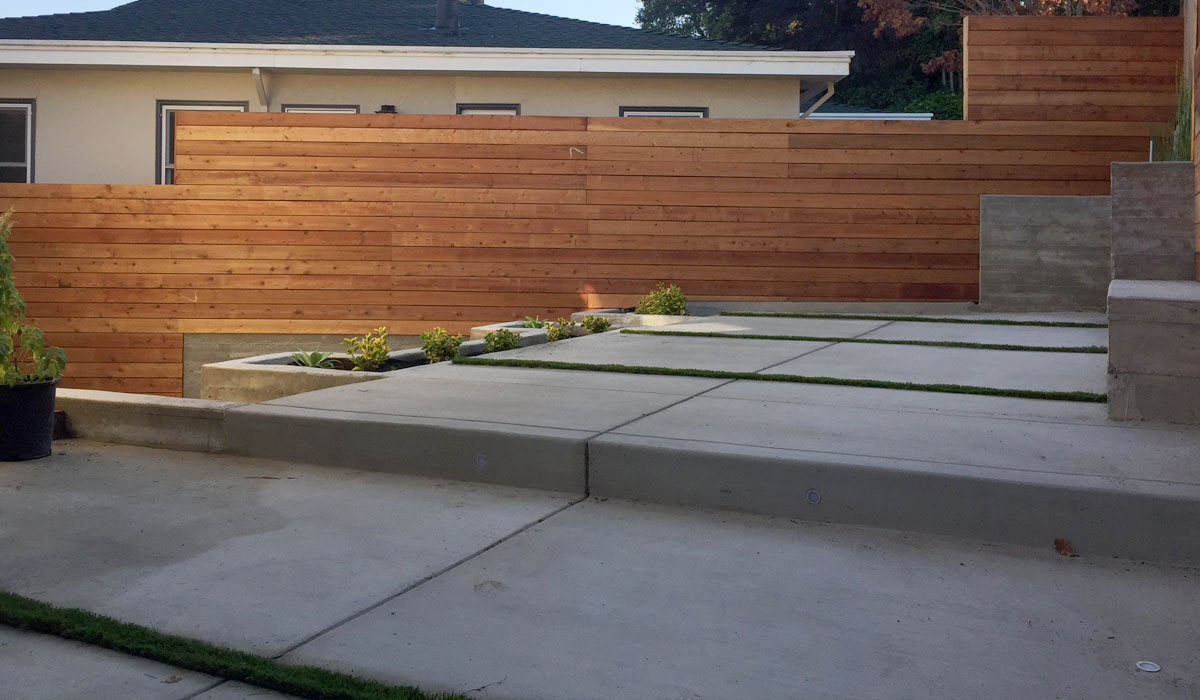 Structural engineering for residential retaining wall and patio