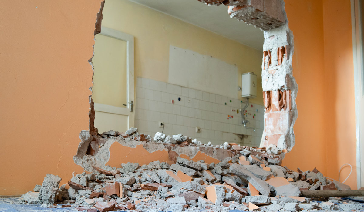 Structural engineering for residential wall demolition project